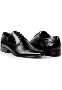 Sapato Social Couro Oxford Bigioni Masculino - Masculino-Preto
