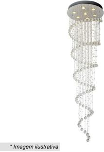 Plafon Spirale - Inox & Cristal - 200Xø60Cm - Bihevvy