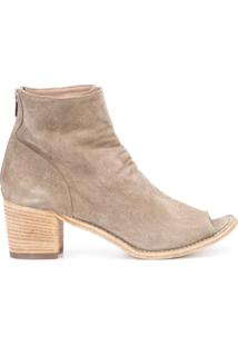 Officine Creative Ankle Boot De Couro 'Resnais' - Neutro