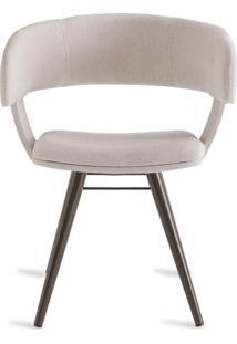 Cadeira Inhotim Assento Estofado Rustico Cru Base Tabaco - 55875 Sun House