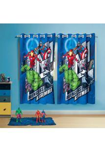 Cortina Infantil Com Ilhã³S Estampada Avengers Lepper 50284