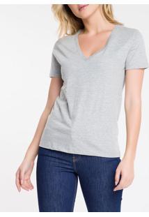Blusa Feminina Essentials Gola V Mescla Calvin Klein Jeans - Pp