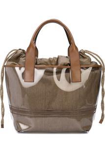 Brunello Cucinelli Drawstring Tote Bag - Marrom
