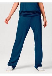 Calça Pantalona Com Elastano - 7C04N10En11 Feminina - Feminino