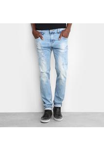 Calça Jeans Skinny Sawary Estonada Masculina - Masculino-Jeans