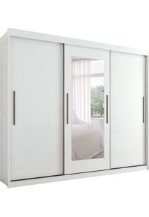 Guarda-Roupa Casal Com Espelho Aquarius 3 Pt 3 Gv Branco