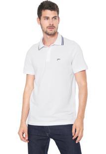 Camisa Polo Yachtsman Reta Logo Branca