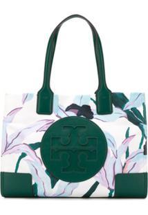 Tory Burch Floral Print Tote Bag - Verde