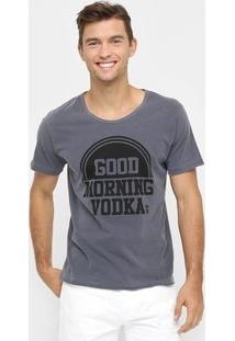 Camiseta Sérgio K. Good Morning - Masculino-Chumbo