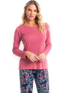 Pijama Longo Estampado Ellen