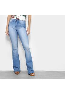 4953520f8 ... Calça Jeans Flare Sommer Estonada Cintura Média Feminina - Feminino