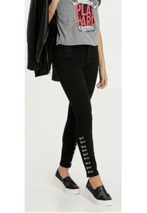 Calça Feminina Jeans Stretch Cigarrete Sawary