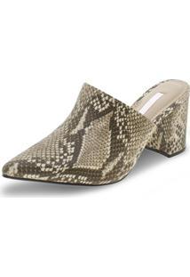 Sapato Feminino Mule Via Marte - 197501 Café/Bege 34