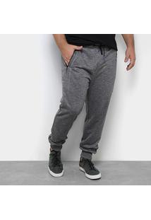 Calça Moletom Jogger Delkor Plus Size Masculina - Masculino-Chumbo