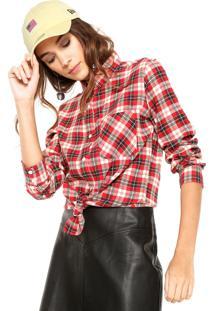 Camisa Fiveblu Xadrez Vermelho/Bege