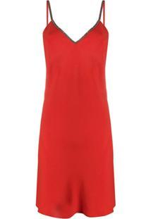 Ba&Sh Vestido Slad Com Aplicações - Vermelho