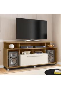 Rack Para Tv Até 55 Polegadas 2 Portas New Centurini Cinamomo/Off White - Móveis Bechara