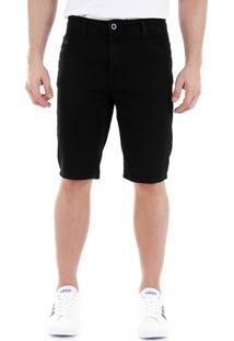 Bermuda Jeans Masculina Max Denim - Preto