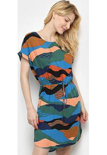 Vestido Cantão T-Shirt Reflexo - Feminino-Laranja