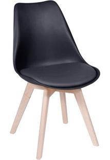 Cadeira Eames Modesti- Preta & Bege- 83X49X42,5Cm