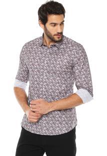 Camisa Calvin Klein Jeans Florida Cinza
