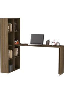 Mesa Para Computador Com Estante Be 38 - Brv Móveis - Carvalho