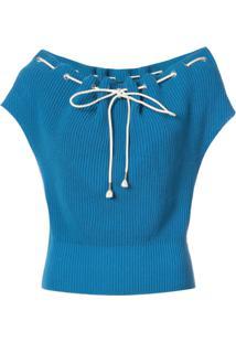Calvin Klein 205W39Nyc Suéter Mangas Curtas - Azul