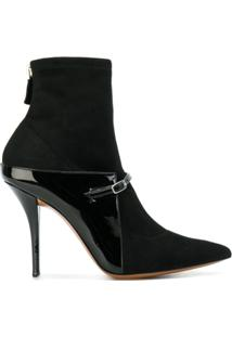 Givenchy Ankle Boot De Couro Bico Fino - Preto