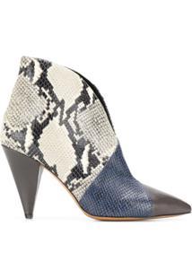 Isabel Marant Ankle Boot Archenn Com Estampa Píton - Azul