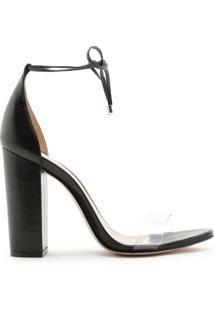 Sandália Salto Vinil Glossy Black | Schutz