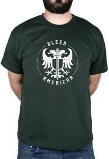 Camiseta Bleed American Sword Of Wisdom Verde