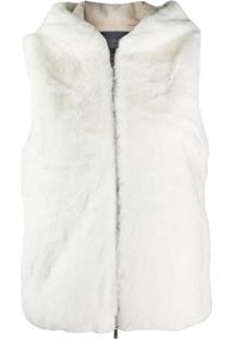 Lorena Antoniazzi Faux Fur Gilet - Branco