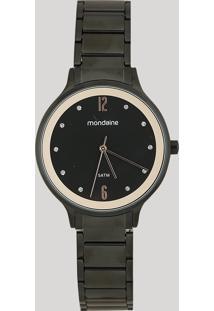Relógio Analógico Mondaine Feminino - 53626Lpmvpe1 Preto - Único