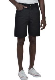Bermuda Slim Sarja Black Yck'S Preta