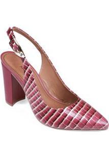 Sapato Morena Rosa Chanel Fivela Personalizada Magenta/Ouro