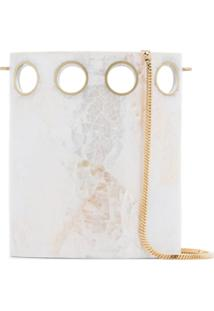 Nathalie Trad Bolsa Clutch 'White Golding' - Branco