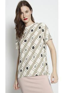 Camiseta Texturizada - Off White & Verde Militar - Fforum