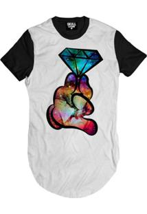 Camiseta Longline Diamond Hands Masculina - Masculino