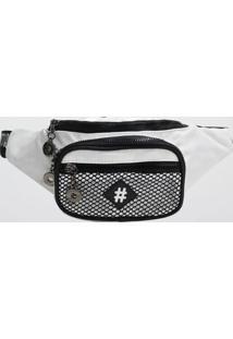 Pochete Back Bag Nylon Let'S Go (Branco, Único)