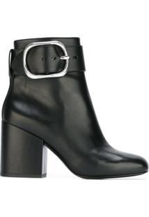 Alexander Wang Ankle Boot De Couro Modelo 'Kenze' - Preto