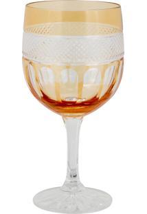 Taça De Cristal Lodz Para Água De 500 Ml - Âmbar Glassic