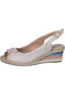 Sandã¡Lia Feminina Anabela Doctor Shoes 660 Off White - Bege/Off-White - Feminino - Dafiti