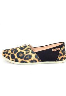 Alpargata Quality Shoes Feminina 001 Onça E Preto 34