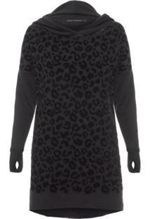 Vestido Leopard John John - Preto
