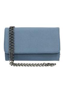 Bolsa Clutch Ravy Store Pequena Alça De Corrente Azul