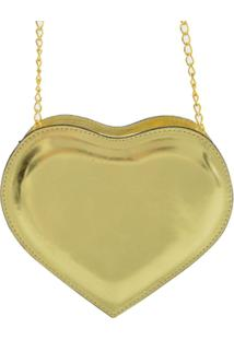 Bolsa Clara Edery Coração - Feminino-Dourado