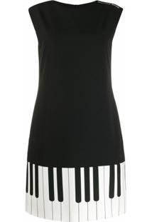 Boutique Moschino Vestido Com Estampa Piano - Preto