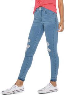 Calça Azul Jeans Push Up