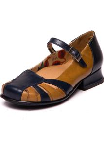 Sapato Mzq Mary Jane Passiflora Tamarindo 7711