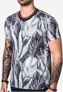 Camiseta Hermoso Compadre Foliage Masculina - Masculino-Azul